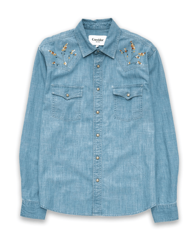 Chambray Embroidered Western