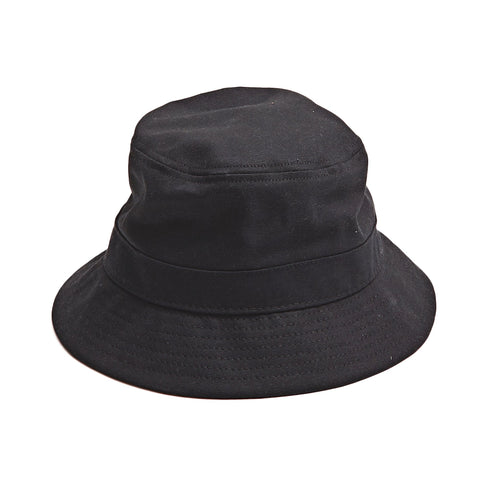 Black Twill Bucket Hat