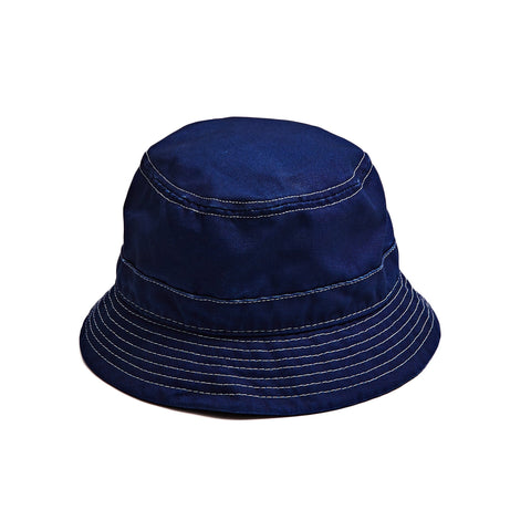Indigo Bucket Hat - White Thread
