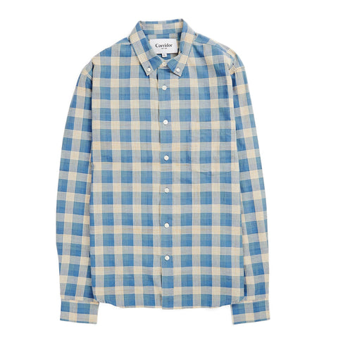 Baby Blue Madras LS