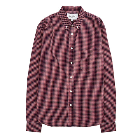 Indigo Red Check LS