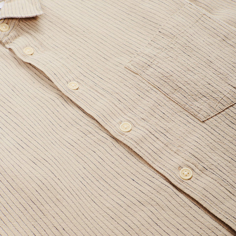 Natural Stripe Linen LS