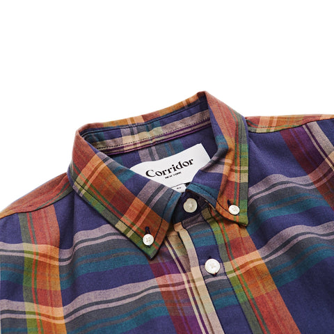 Perfect Navy Madras LS