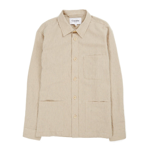 Natural Stripe Linen Overshirt