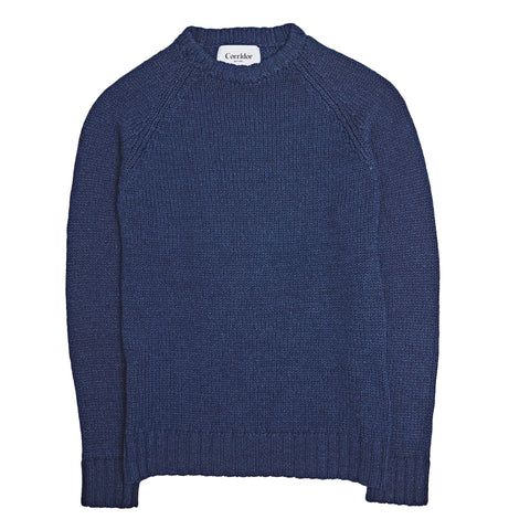 Rinsed Indigo Cotton Crewneck