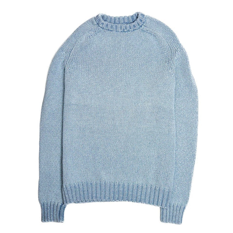Washed Indigo Crewneck