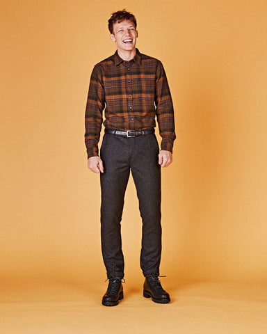 Brown Unity Plaid LS