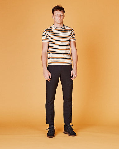 Navy Yellow Stripe T-Shirt