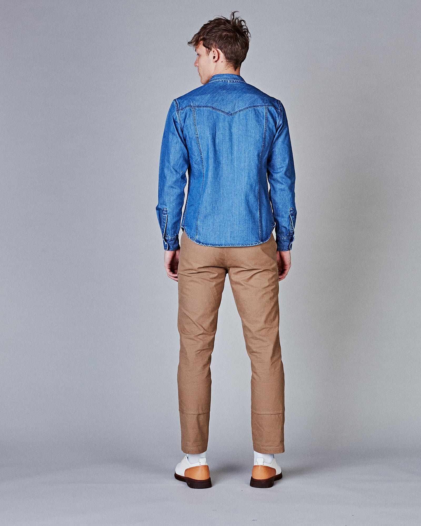 Denim Washed Western - Triple Stitch