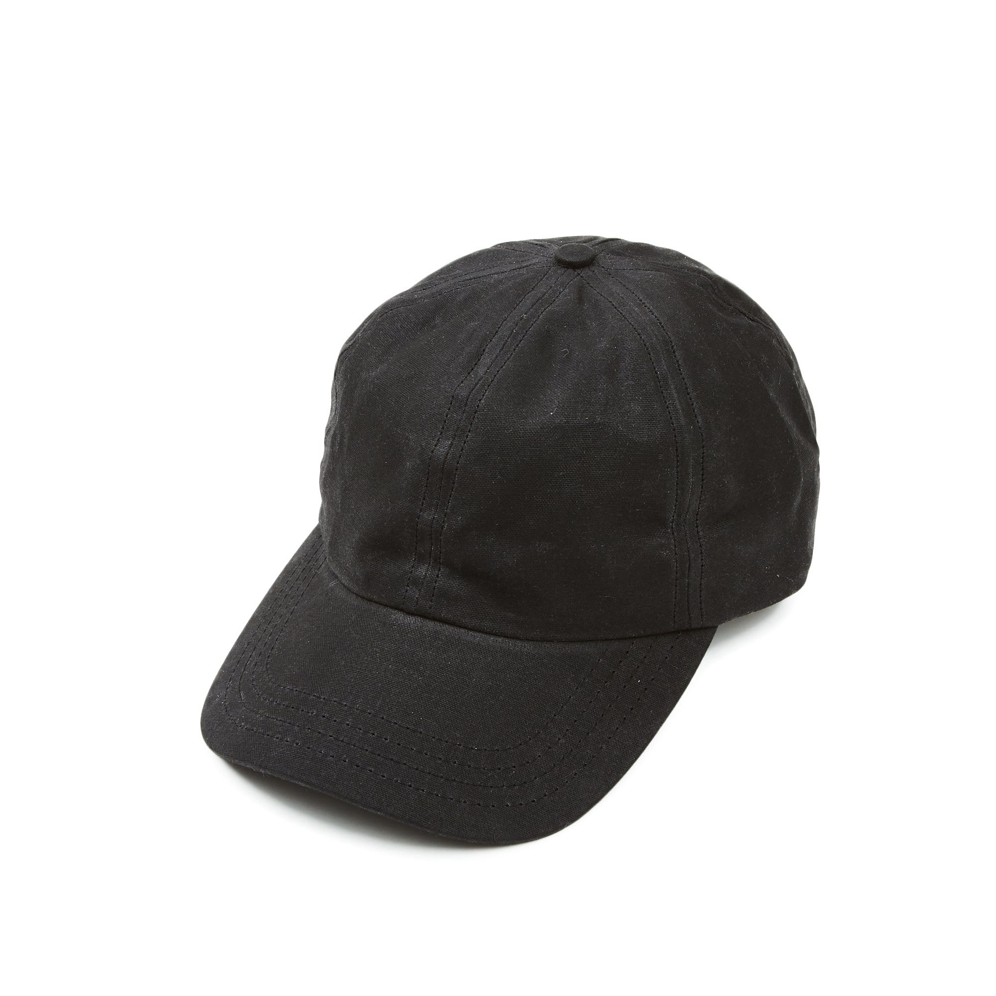 Black Waxed Waterproof Cap
