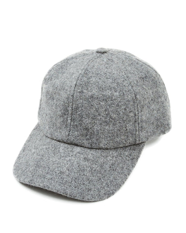 Grey Melton Wool Cap