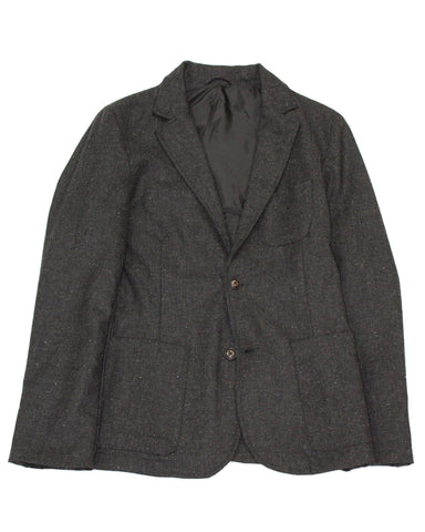 Charcoal Tweed Lined Blazer
