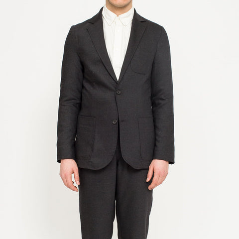 Charcoal Wool Travel Blazer