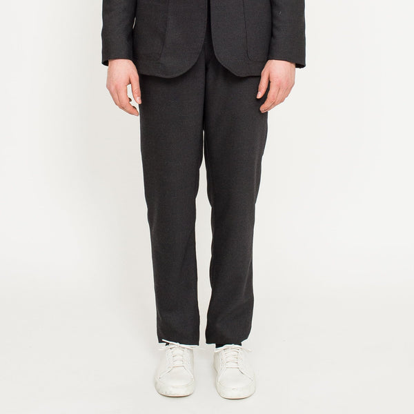 Charcoal Wool Travel Trousers