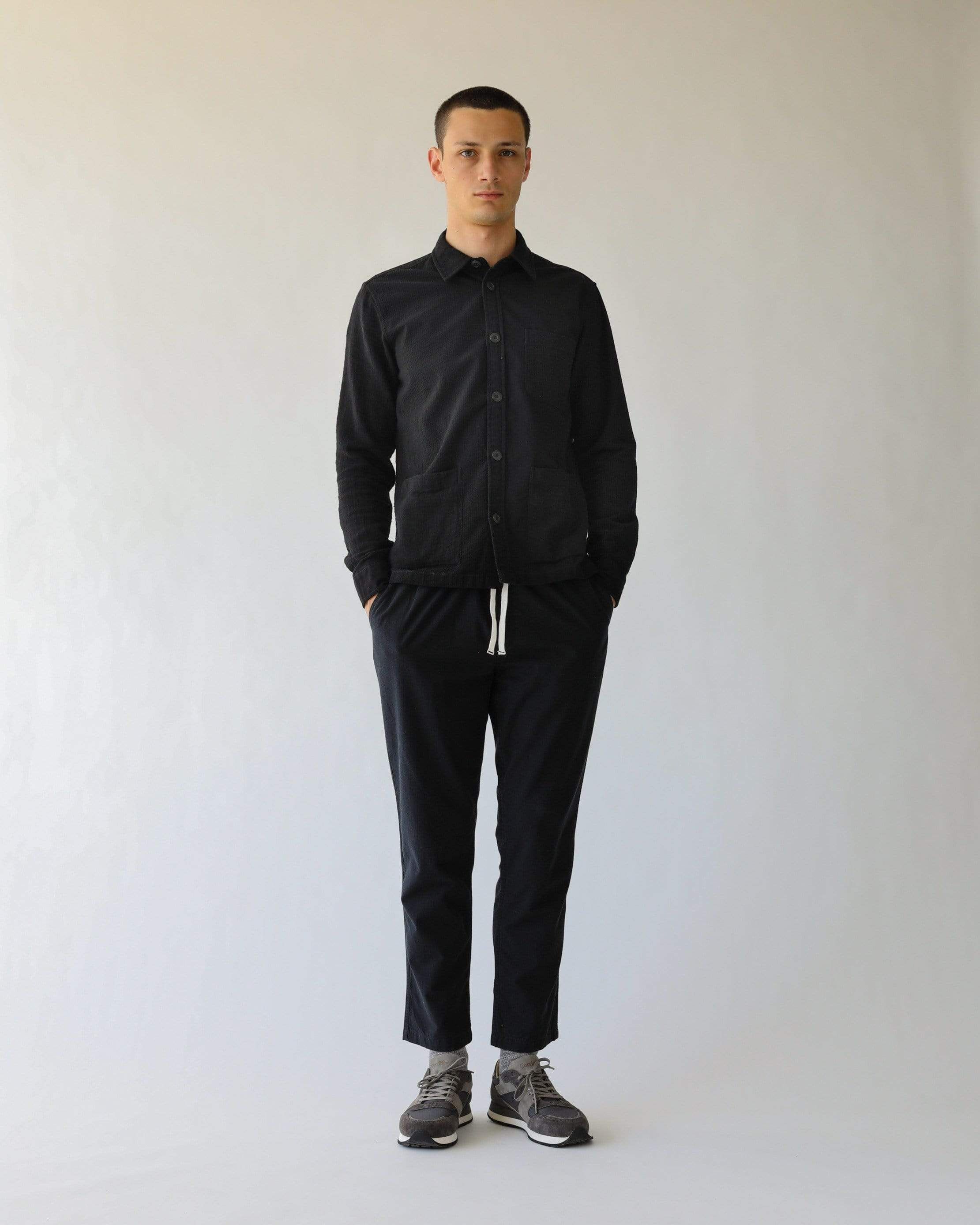 Paneled Black Overshirt