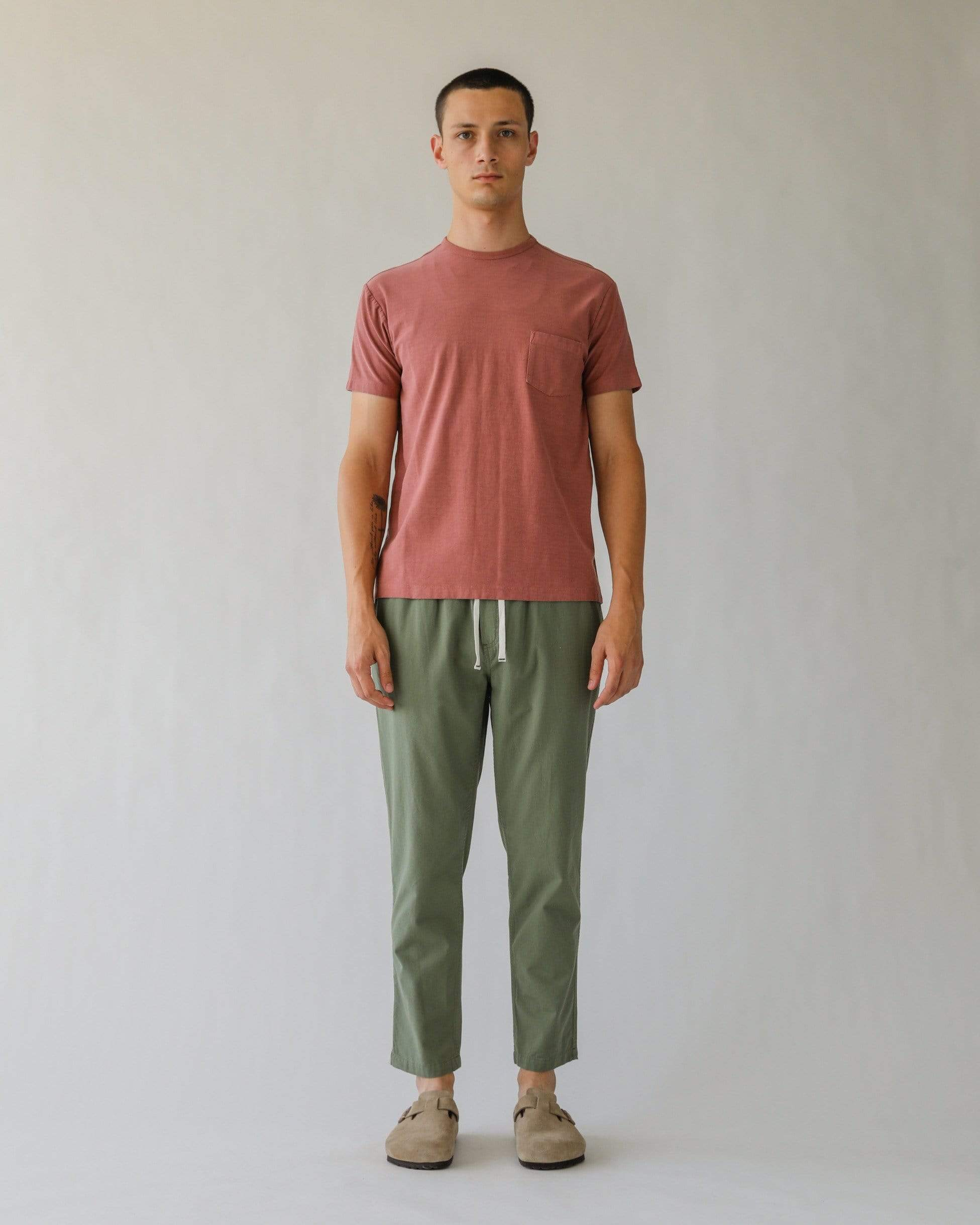 Ripstop Olive Drawstring Trousers