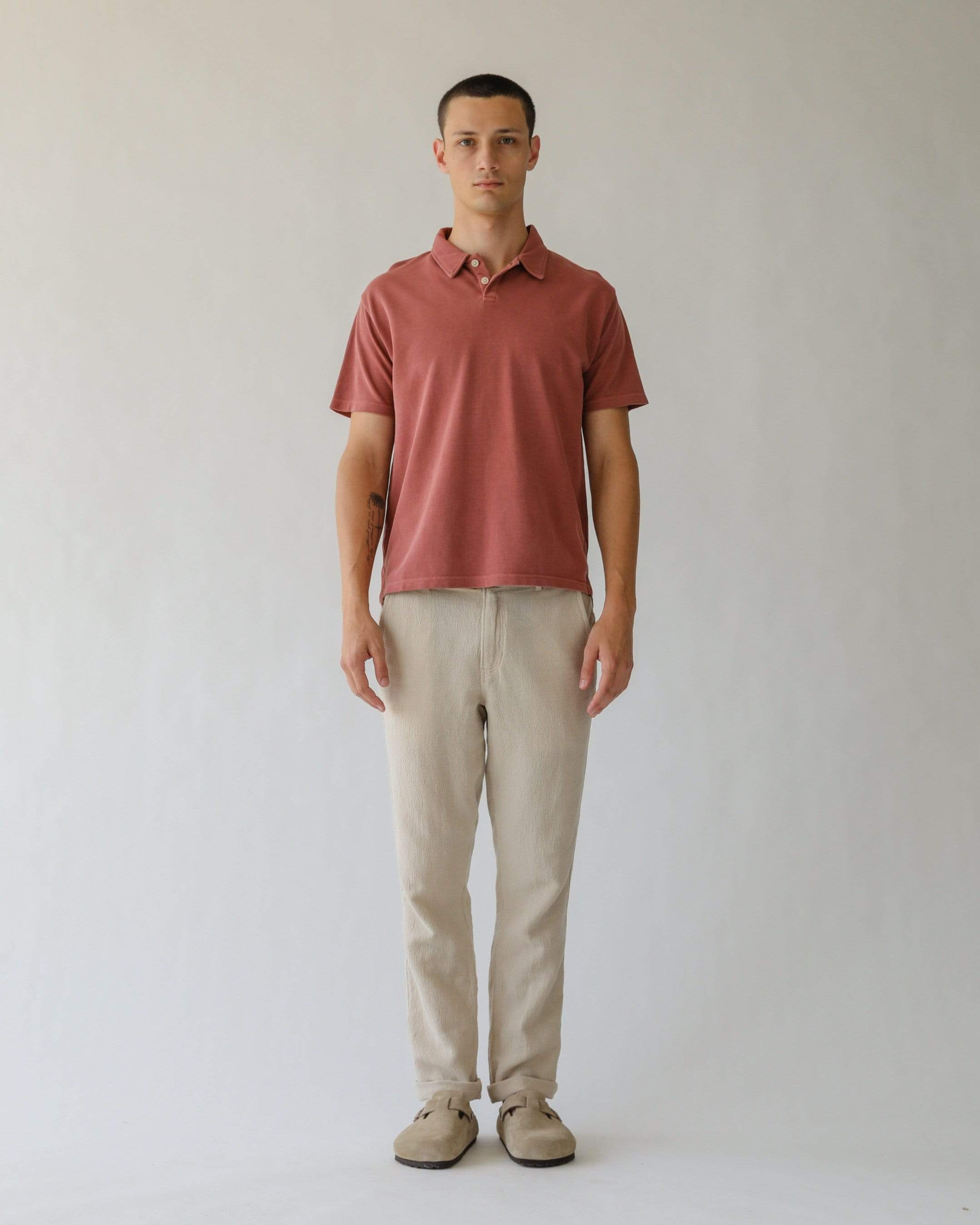 Pigment Dye Polo - Dusty Rose