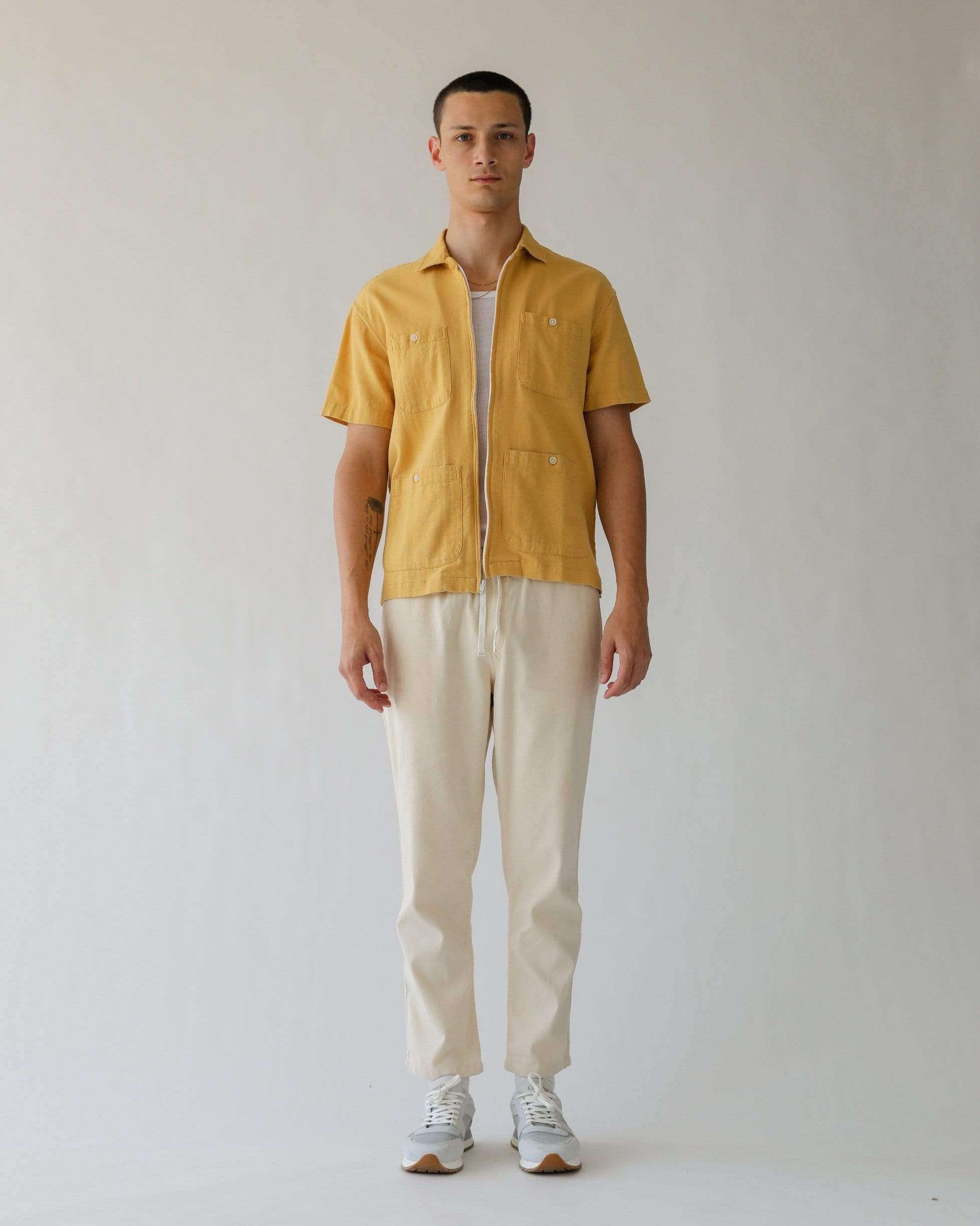 Yellow Linen Matty Pool Jacket