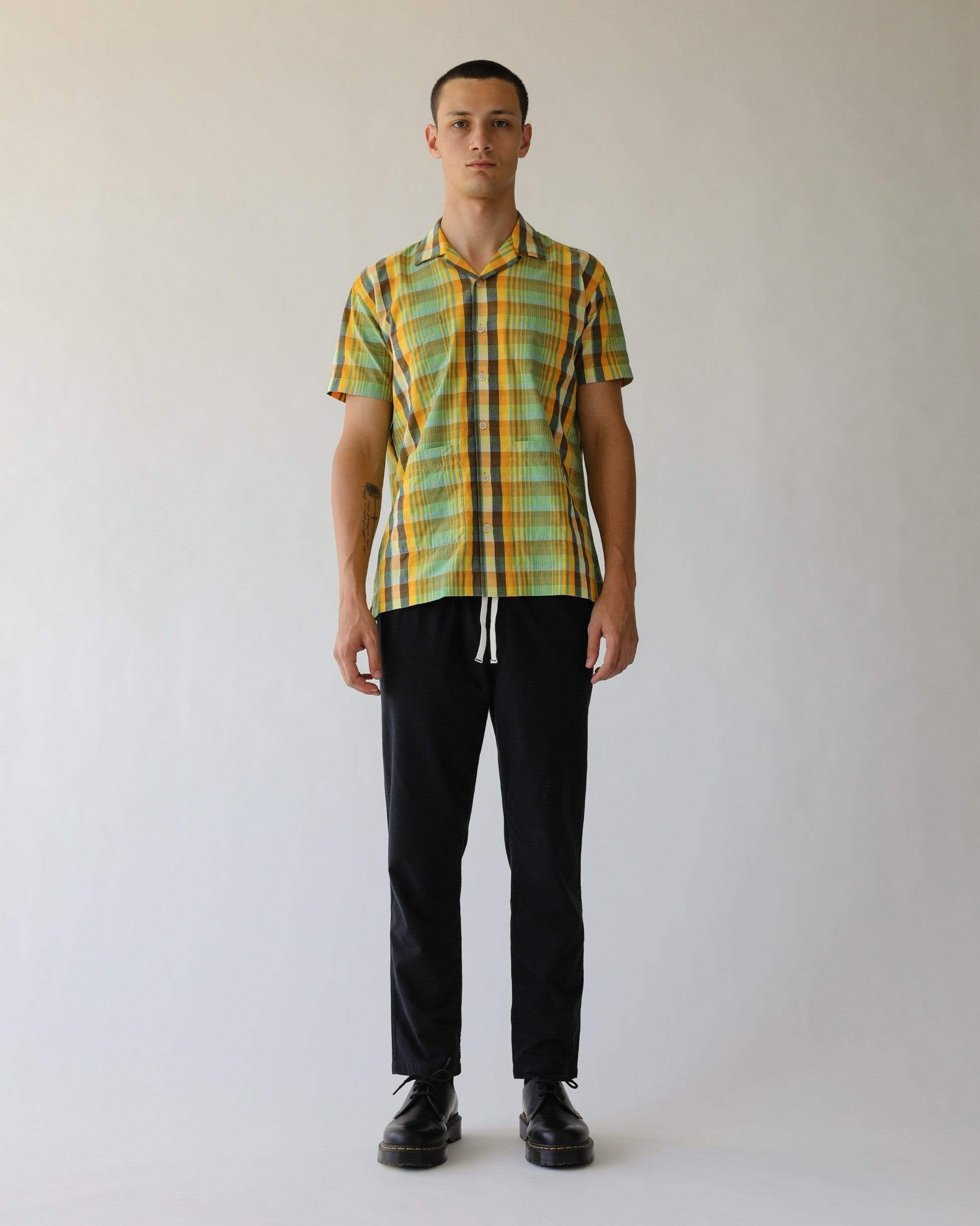 Madras Yellow Summer Shirt