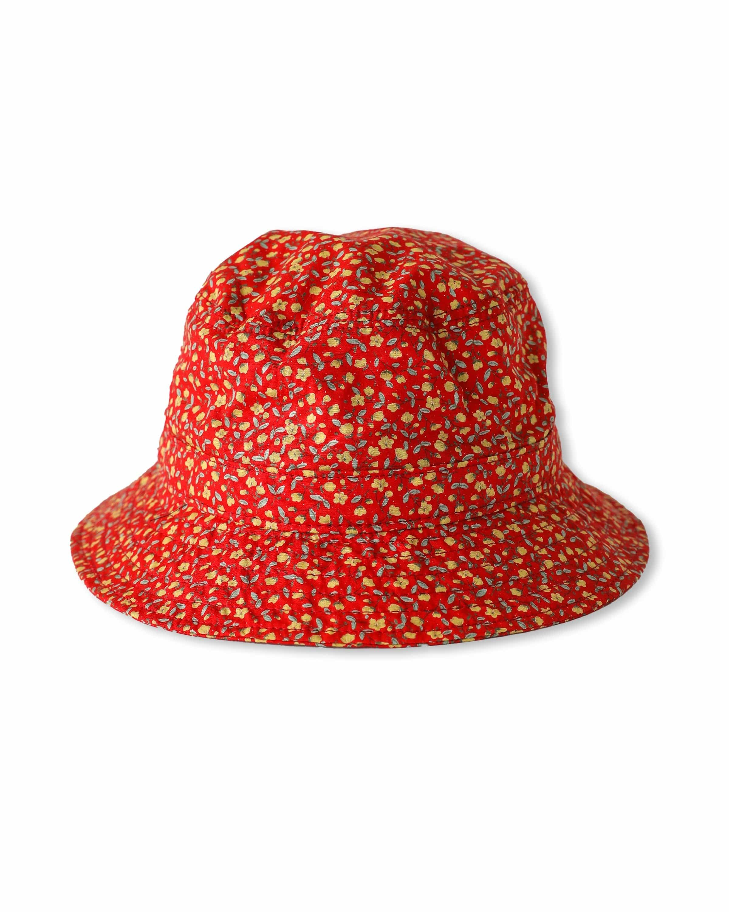 Micro Floral - Red Bucket Hat