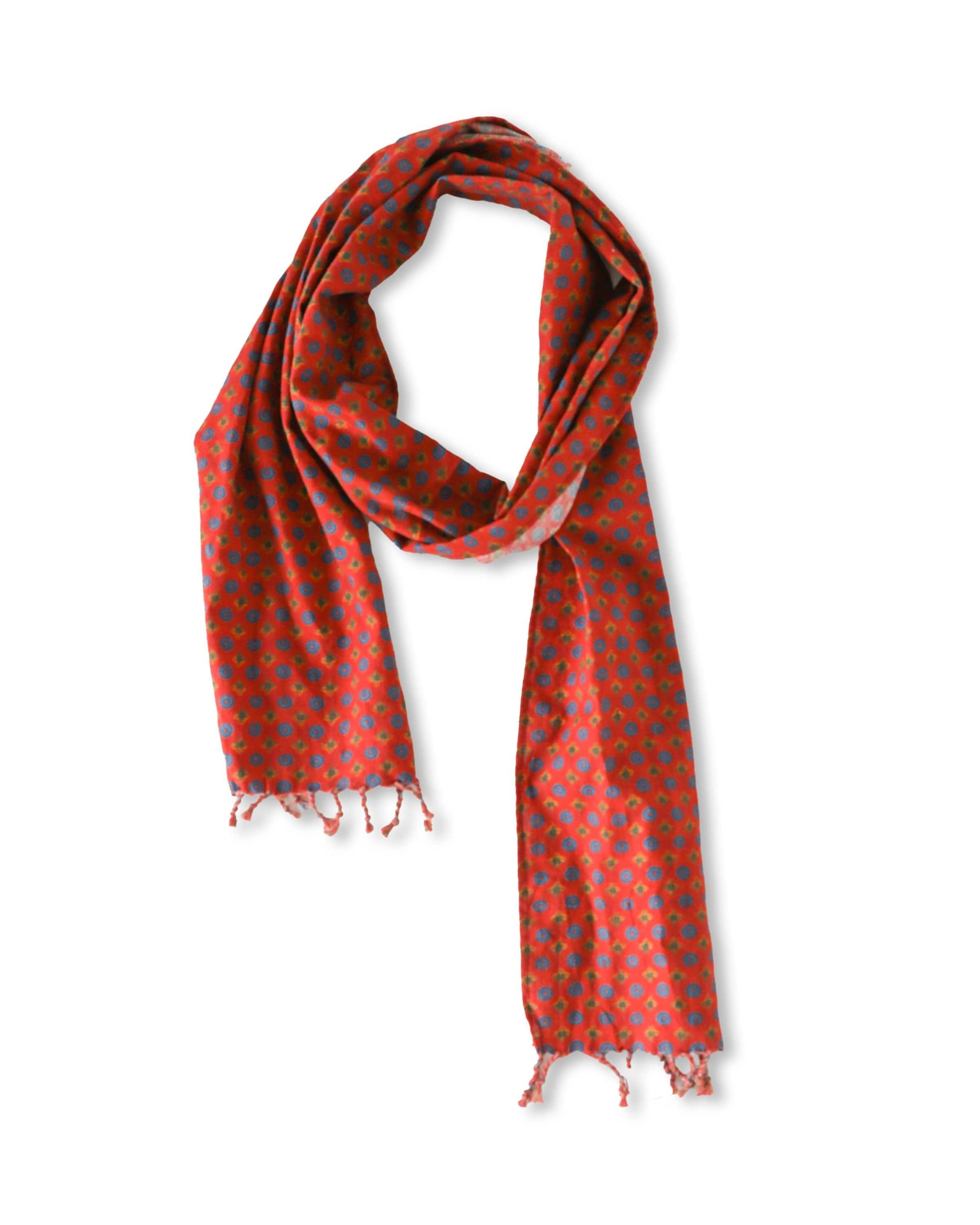 Medallion Red Scarf