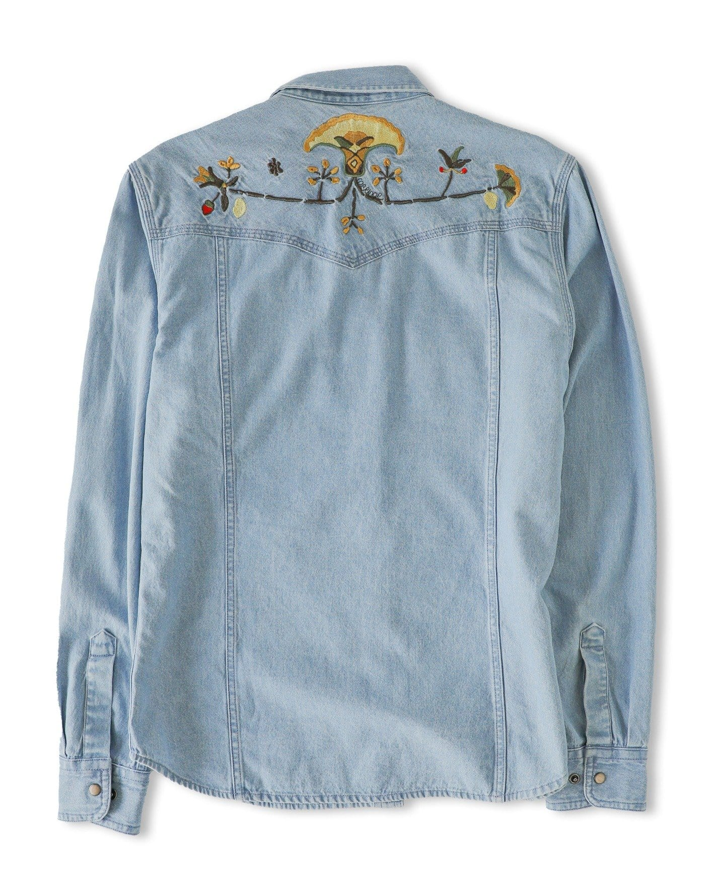 Embroidered Western Denim