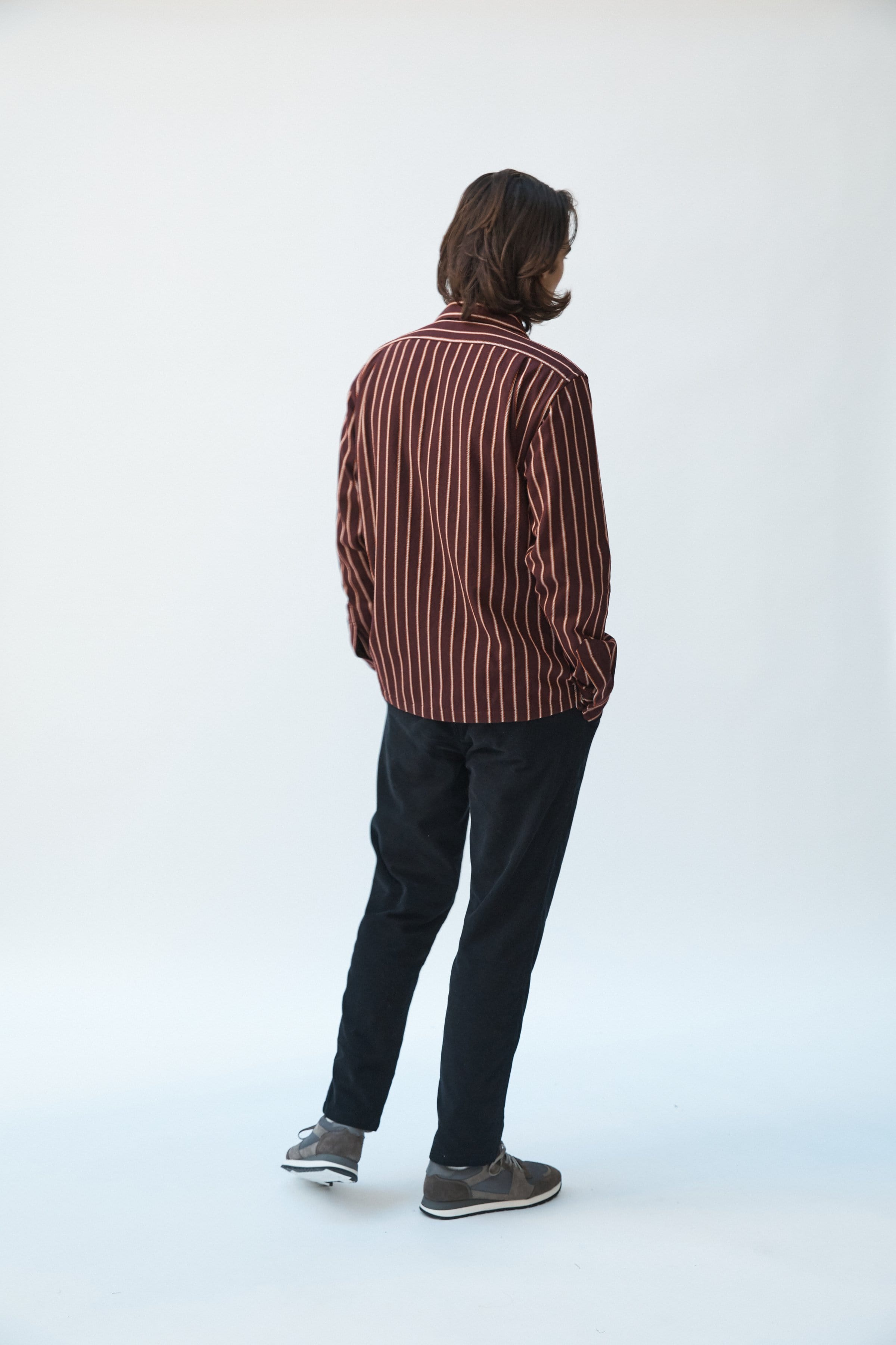 Raisin Twisted Stripe Flannel