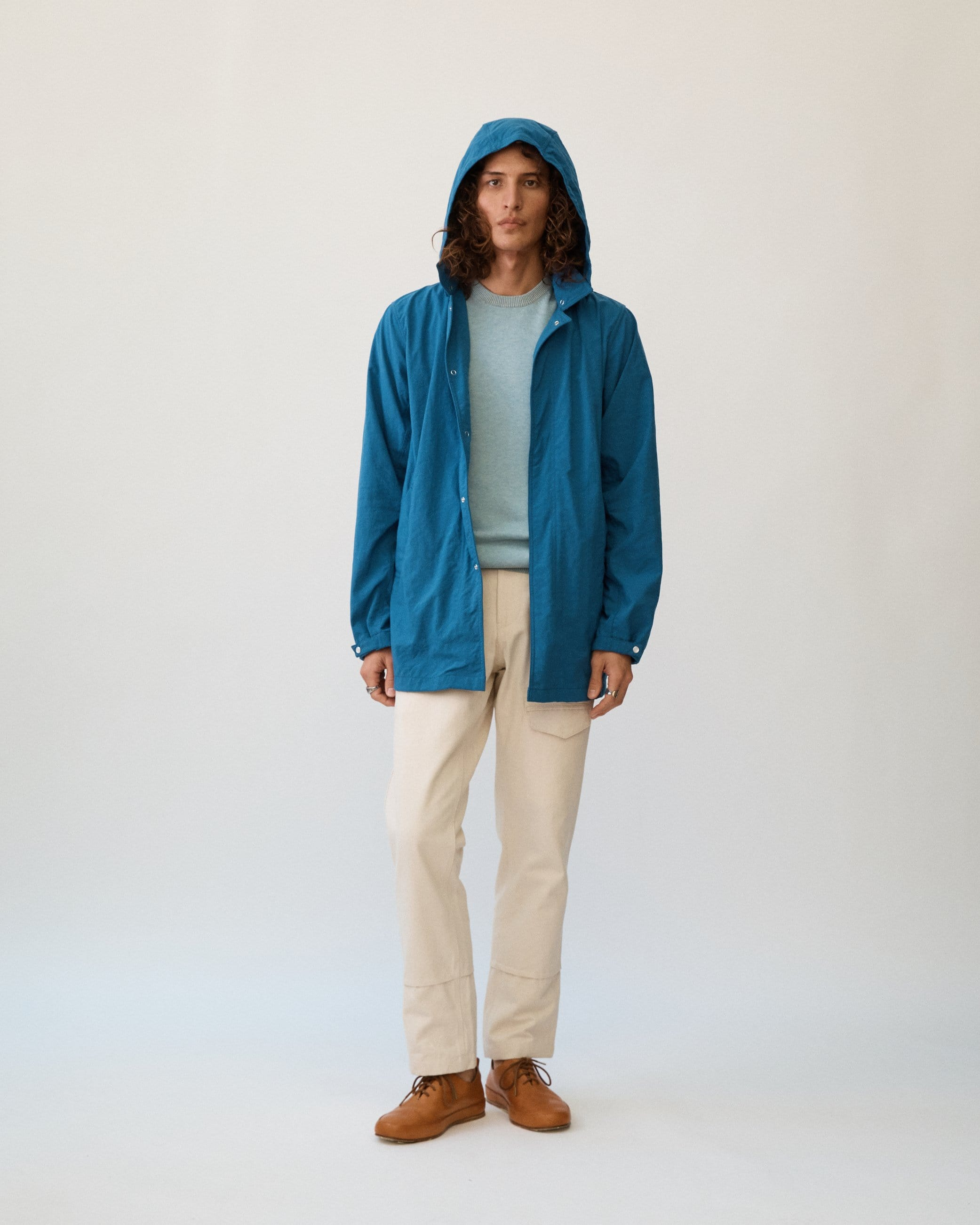 Natural Dye Nylon - Indigo Rainjacket