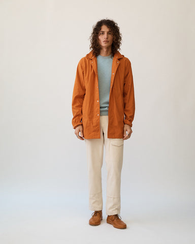 Natural Dye Nylon - Madder Flower Orange Rainjacket