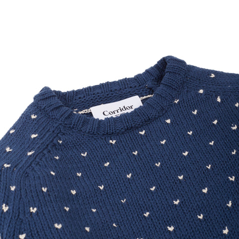 Birdseye Tanguis Cotton Crewneck - Blue