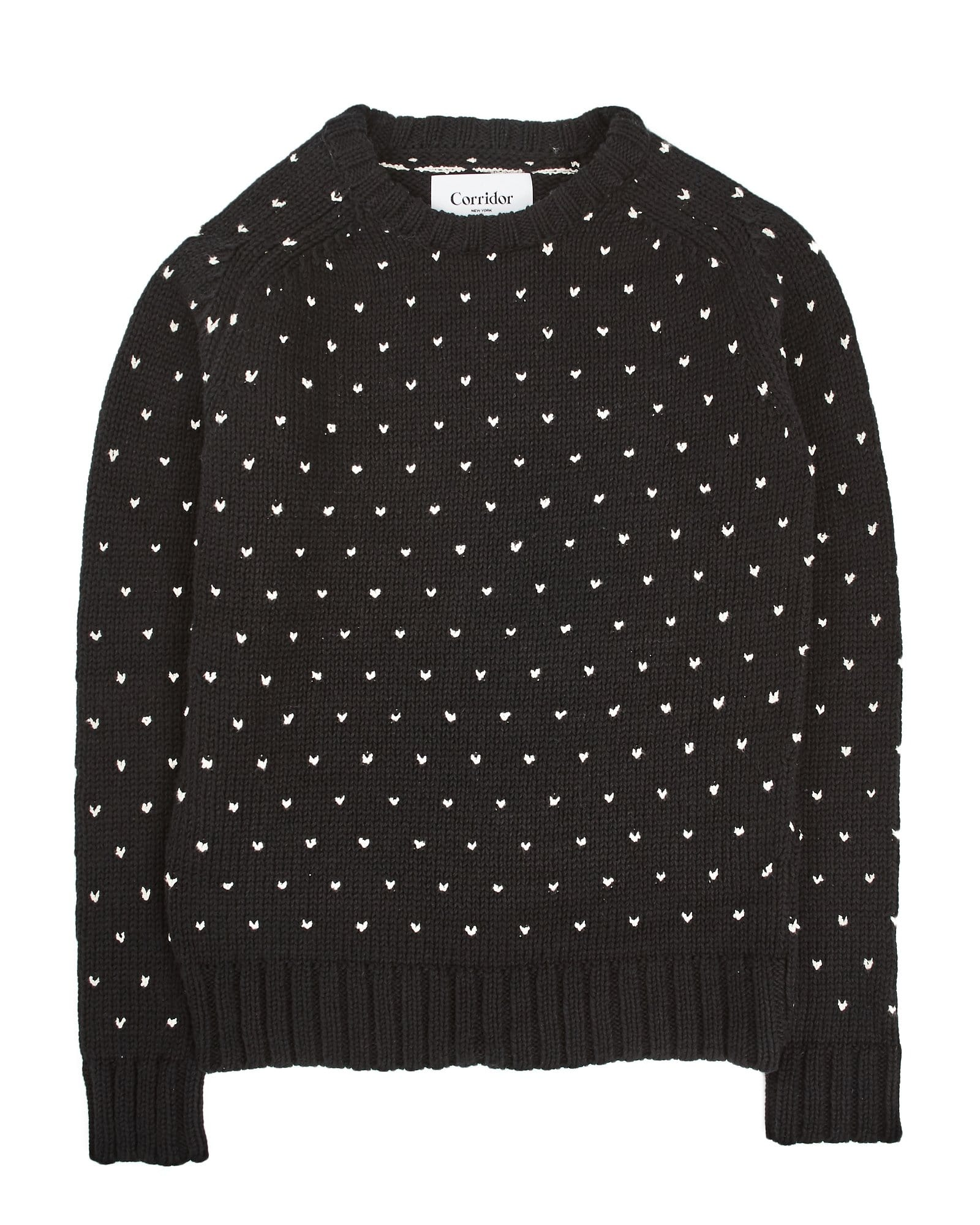Birdseye Tanguis Cotton Crewneck - Black