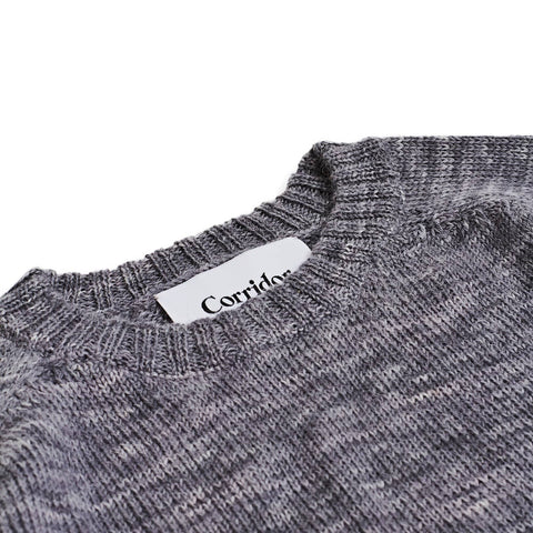 Alpaca Space Dye - Crew Neck - Grey
