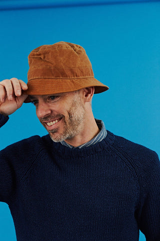 Waxed Bucket Hat- Tan