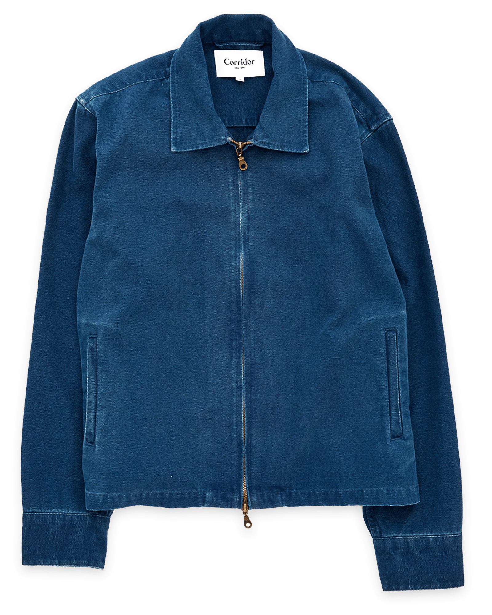 Duck Dye Indigo Canvas Zip Front