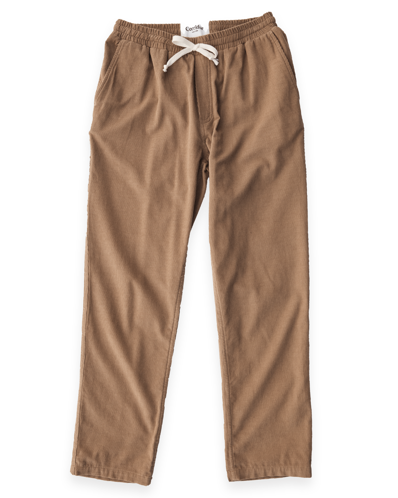 Drawstring Trousers Pincord Taupe