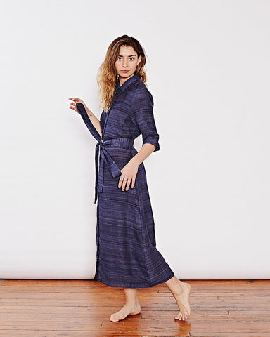 Indigo Silk Dress