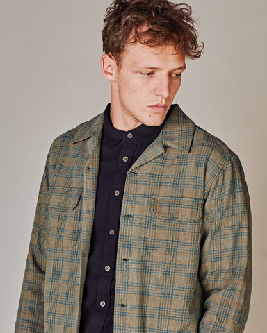 Olive Check Work Shirt