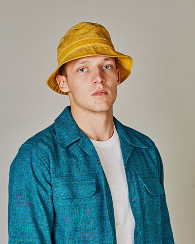 Yellow Waxed Bucket Hat
