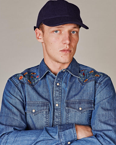Melton Wool Navy Cap