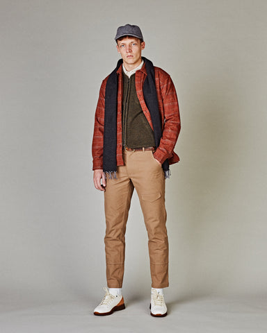 Shetland Wool Jacket - Clay Check