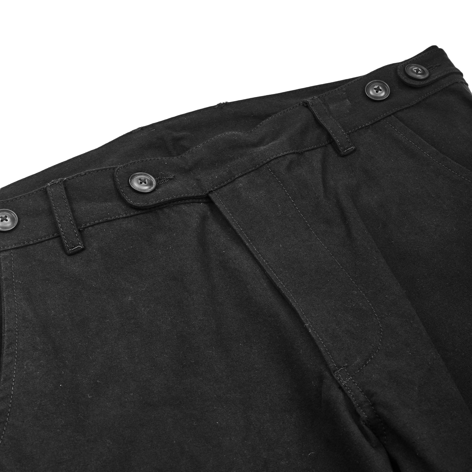 Heavy Canvas Black Flap Pants