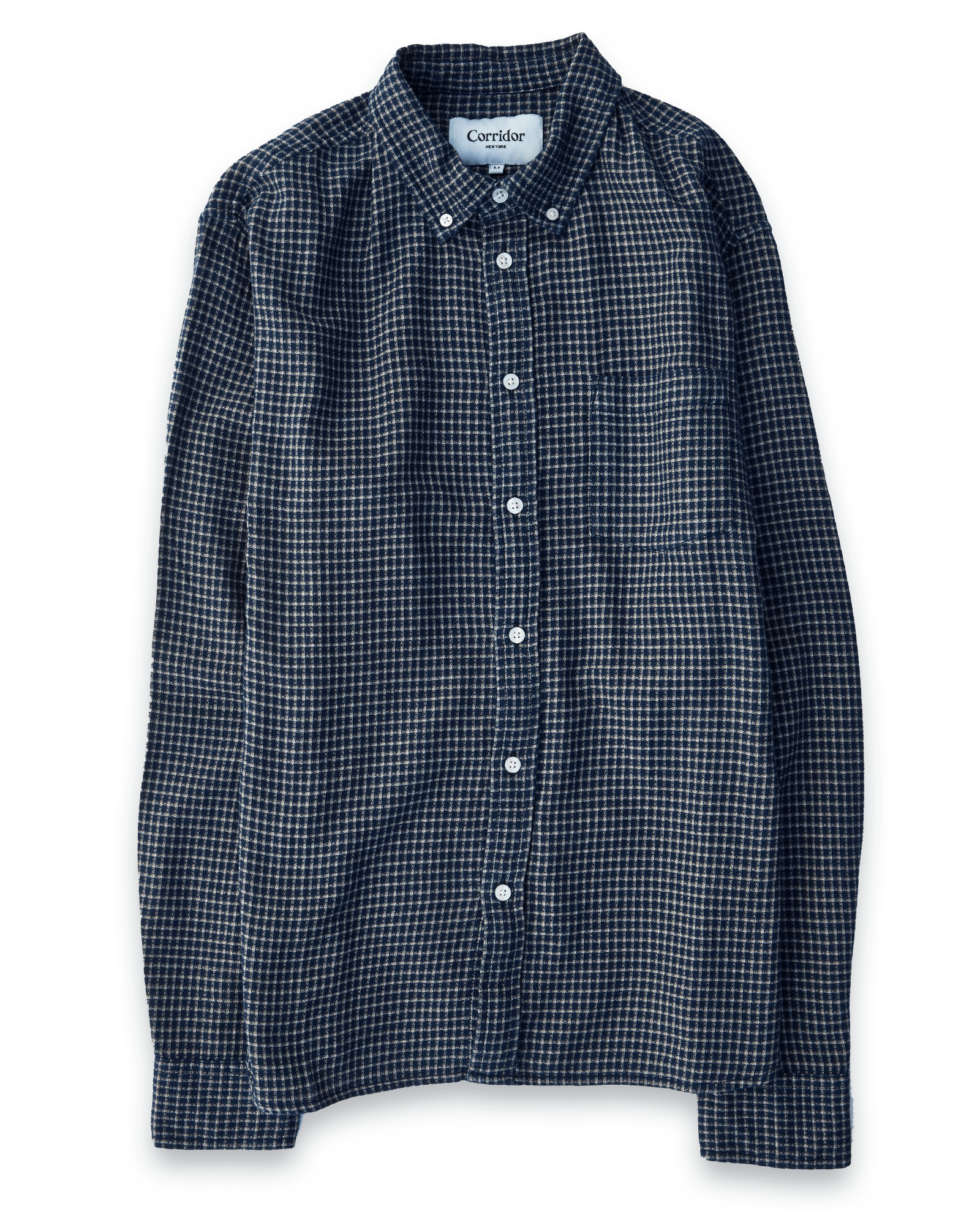 Indigo Gauzy Mini Check LS