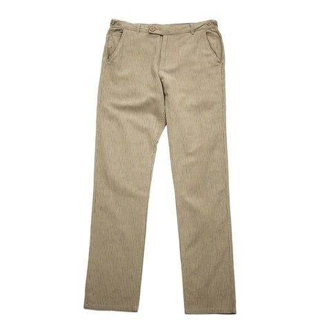 Natural Stripe Linen Trousers