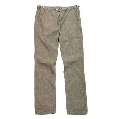 Natural Linen Fleck Trousers