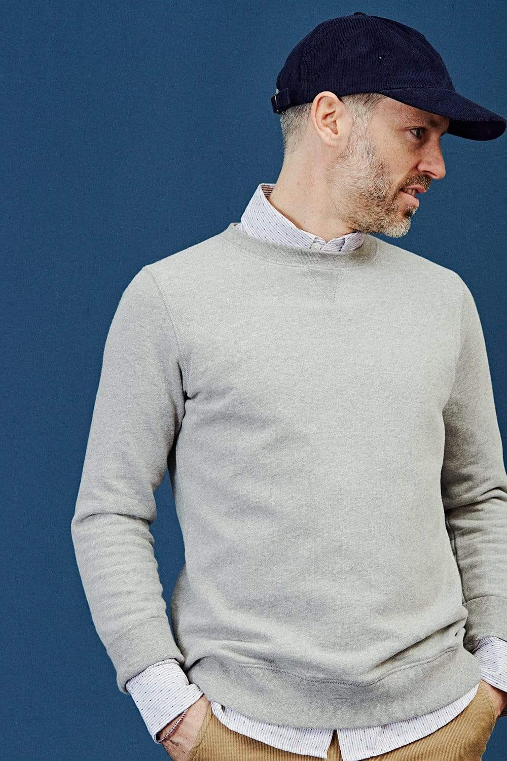 Grey Melange Loopback Sweatshirt AW19
