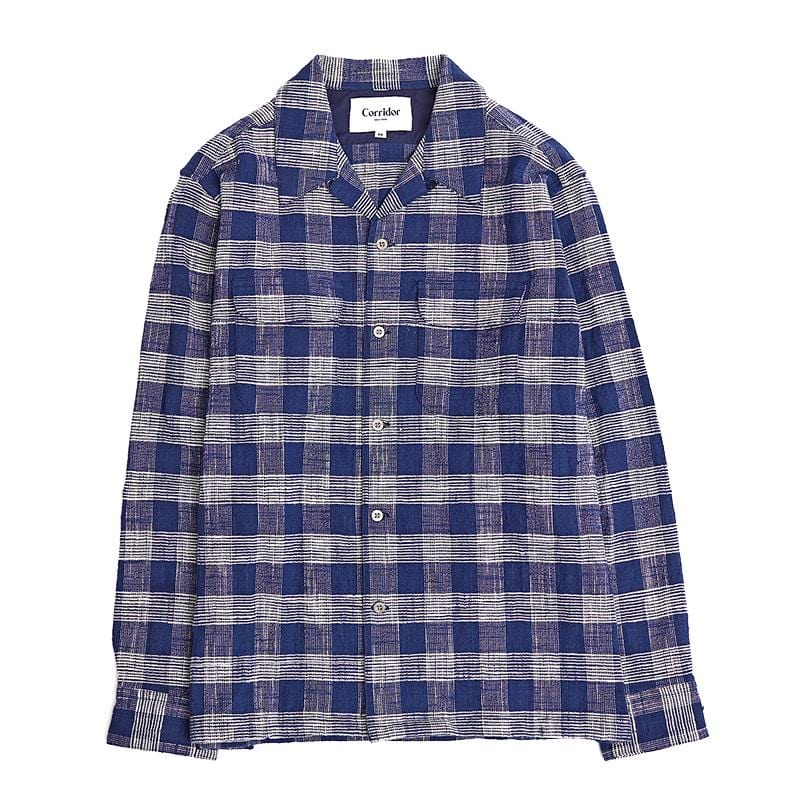 Indigo Blue Triple Check Work Shirt