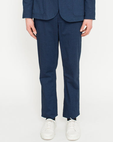 Indigo Cotton Stretch Trousers