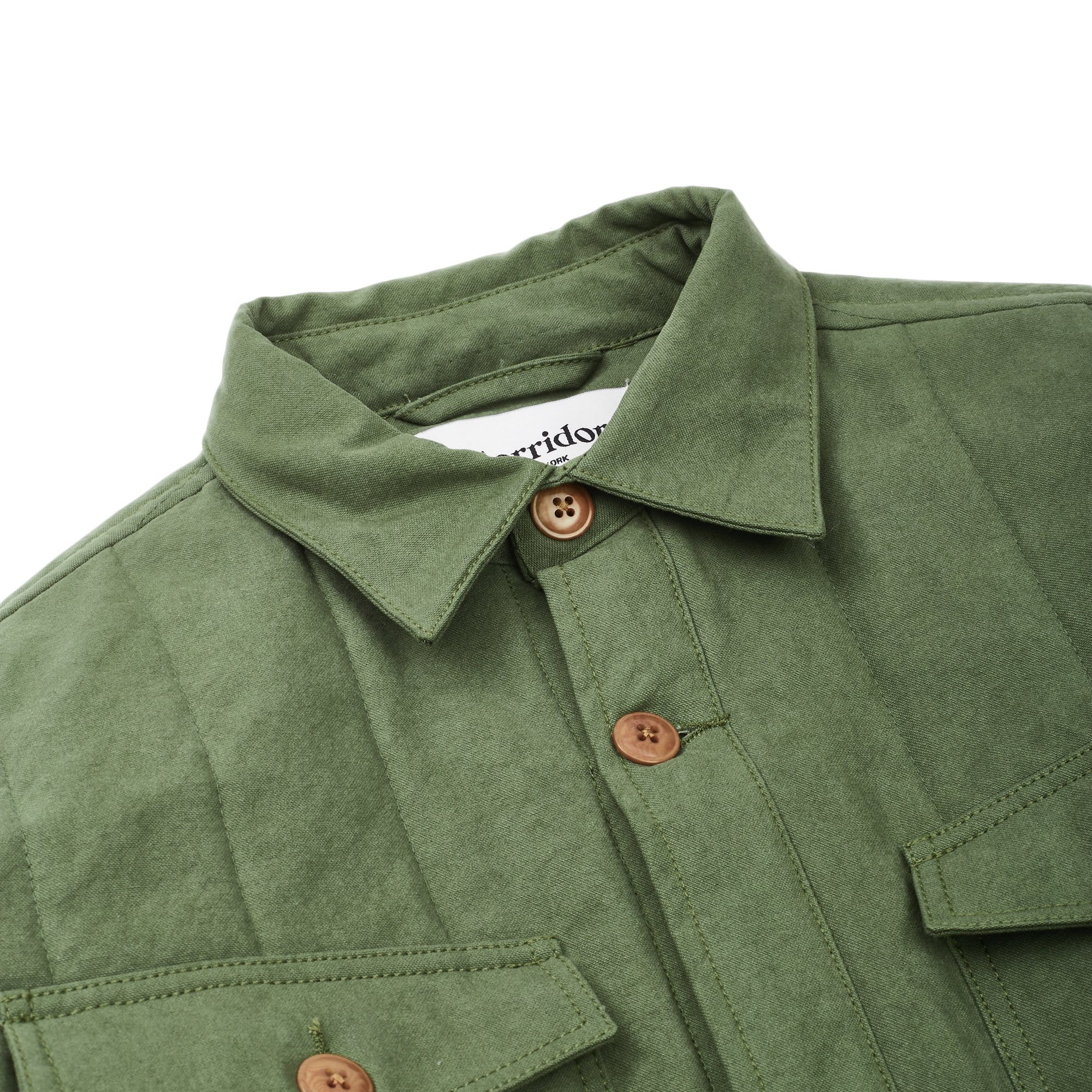 Heavy Canvas Olive Quilted Jacket