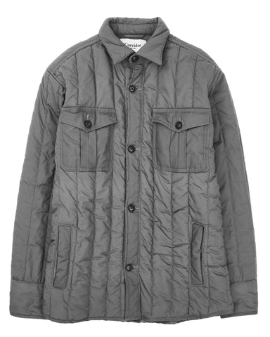 Heavy Canvas Grey Quilted Jacket