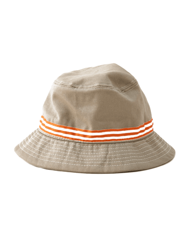 Khaki Orange Banded Bucket